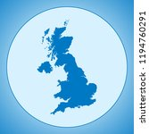 map of united kingdom | Shutterstock .eps vector #1194760291