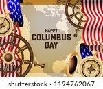 happy columbus day poster... | Shutterstock .eps vector #1194762067