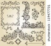 vector vintage floral  design... | Shutterstock .eps vector #119477731