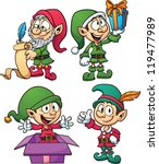 Christmas Elves. Vector Clip...