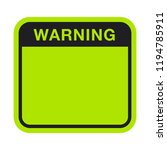 black green warning box | Shutterstock .eps vector #1194785911