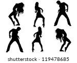 dancing silhouette dance   Shutterstock .eps vector #119478685