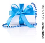 christmas gift with ribbon bow... | Shutterstock . vector #119478751