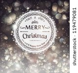 retro badge over christmas... | Shutterstock .eps vector #119479081