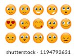 set of yellow emojis isolated... | Shutterstock .eps vector #1194792631