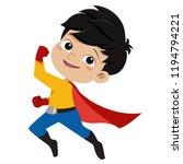 boy wearing superhero costume...   Shutterstock .eps vector #1194794221