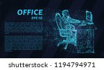 the man behind the computer.... | Shutterstock .eps vector #1194794971