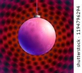 colorful glass ball on creative ... | Shutterstock .eps vector #1194796294