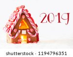 gingerbread house with candys ... | Shutterstock . vector #1194796351