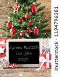 colorful tree with guten rutsch ... | Shutterstock . vector #1194796381