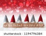 gnomes  red bokeh  stars  guten ... | Shutterstock . vector #1194796384