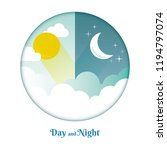 day and night layout. sun  moon ... | Shutterstock .eps vector #1194797074