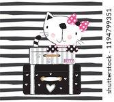 traveling cat vector...   Shutterstock .eps vector #1194799351