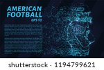 american football made up of...   Shutterstock .eps vector #1194799621