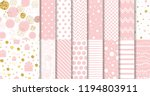 set of geomteric sweet pink... | Shutterstock .eps vector #1194803911