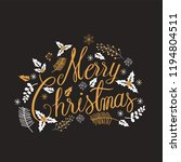 merry christmas  calligraphy... | Shutterstock .eps vector #1194804511