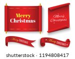 merry christmas scroll red.... | Shutterstock .eps vector #1194808417
