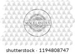miscellaneous grey badge with... | Shutterstock .eps vector #1194808747