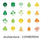 geometric trees silhouette... | Shutterstock .eps vector #1194809044