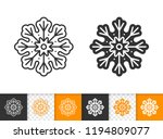 gingerbread black linear and... | Shutterstock .eps vector #1194809077