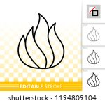 fire thin line icon. outline... | Shutterstock .eps vector #1194809104