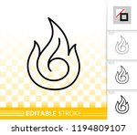 fire thin line icon. outline... | Shutterstock .eps vector #1194809107