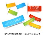Design Tags and Labels - grouped vector elements | Shutterstock vector #119481175