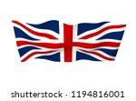 waving flag of the great... | Shutterstock . vector #1194816001