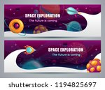 space exploration concept ... | Shutterstock .eps vector #1194825697