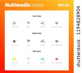multimedia control icons   Shutterstock .eps vector #1194828904