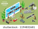 isometric flat  concept of...