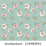 seamless pink vintage flower... | Shutterstock .eps vector #119483941