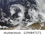 hurricane from space. satellite ... | Shutterstock . vector #1194847171
