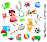 toys collection  jpeg available ... | Shutterstock .eps vector #119484805