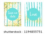 bridal shower card with dots... | Shutterstock .eps vector #1194855751
