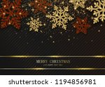 merry christmas and happy new...   Shutterstock .eps vector #1194856981