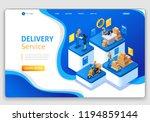website template design.... | Shutterstock .eps vector #1194859144