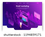 website template design.... | Shutterstock .eps vector #1194859171