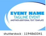 blue template event banner  cue ... | Shutterstock .eps vector #1194860341