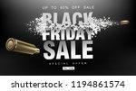 black friday sale. blast wave... | Shutterstock .eps vector #1194861574