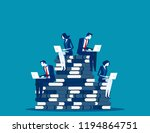 business team planning and...   Shutterstock .eps vector #1194864751