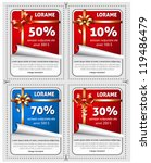 vector sale stickers with... | Shutterstock .eps vector #119486479
