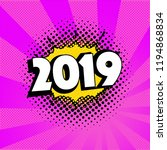 2019 new year on the background ... | Shutterstock .eps vector #1194868834