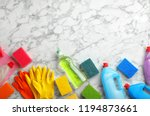 flat lay composition with... | Shutterstock . vector #1194873661