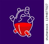 heart anatomical glass... | Shutterstock .eps vector #1194877027