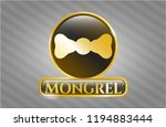 golden badge with bow tie icon ... | Shutterstock .eps vector #1194883444