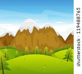 cartoon mountains landscape ... | Shutterstock .eps vector #119488765
