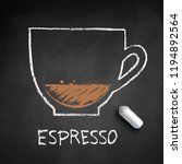 vector chalk drawn sketch of... | Shutterstock .eps vector #1194892564