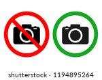 no cameras allowed sign. vector. | Shutterstock .eps vector #1194895264