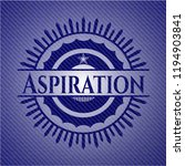 aspiration with jean texture | Shutterstock .eps vector #1194903841